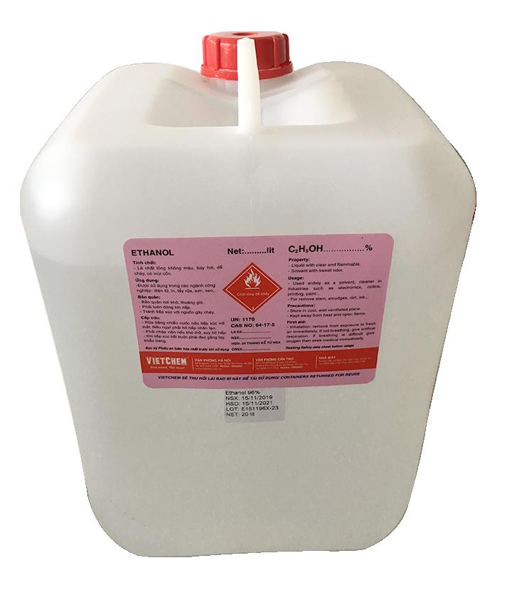 Ethanol - cồn thơm 96% C2H5OH Việt Nam