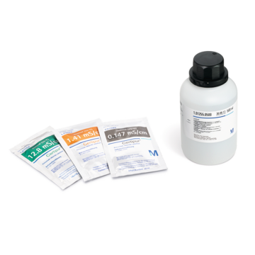 MERCK 101586 Potassium chloride solution (nominal 0.147 mS/cm) certified reference material for the measurement of electrolytic conductivity, traceabl