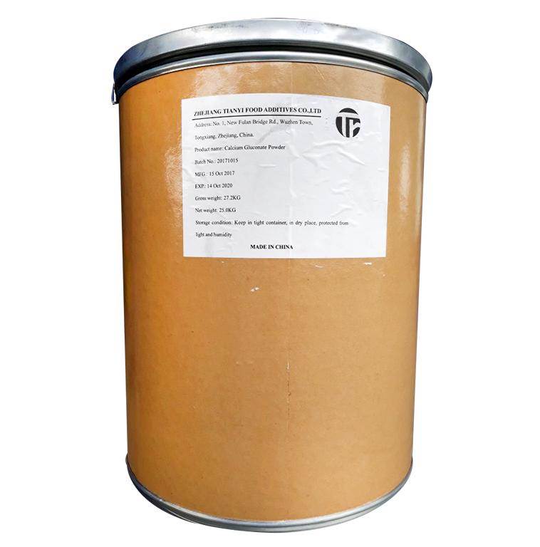 Calcium gluconate (C6H11O7)2Ca, Trung Quốc, 25kg/thùng