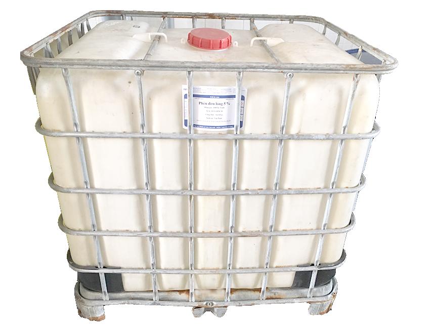 Phèn nhôm Sunfat lỏng Al2(SO4)3 15%, Việt Nam, 1 tấn/tank