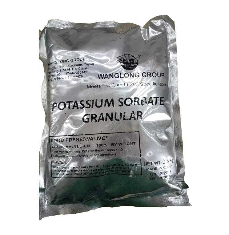 Potassium sorbate C6H7KO2, Trung Quốc, 25kg/thùng