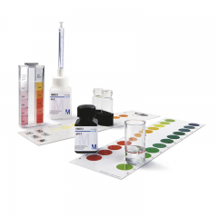 MERCK 111104 Total Hardness Test Method: titrimetric with dropping bottle MColortest™ Toplam Sertlik Testi 1.25 °e 100 Test / 1Kutu