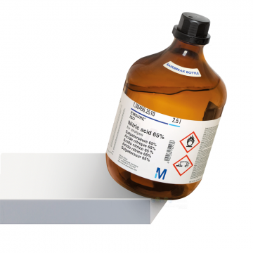 MERCK 100456 Nitric acid 65% EMSURE ISO Safebreak bottle 2.5 L for analysis