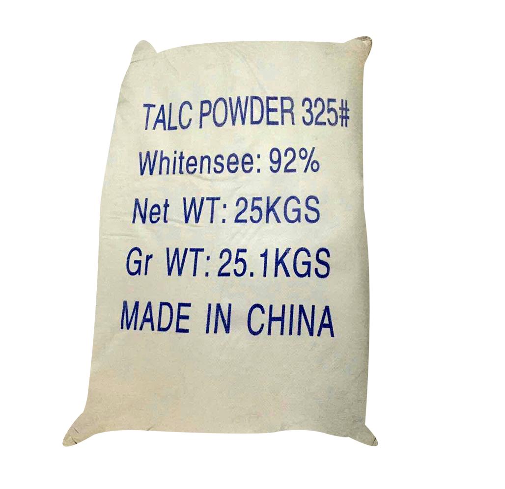 Bột talc Mg3Si4O10(OH)2, Trung Quốc, 25kg/bao