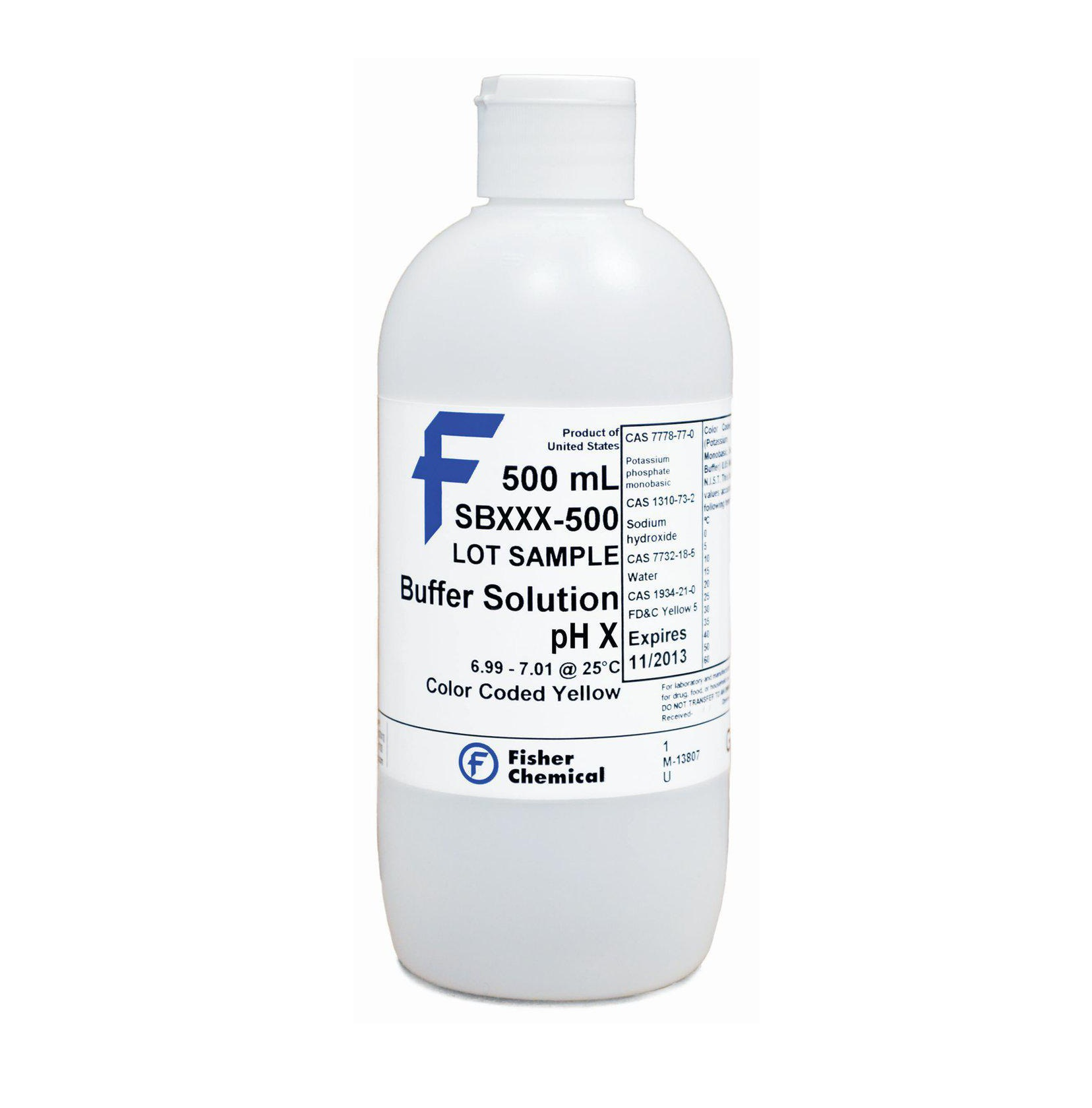 Buffer Solution, pH 10.00, Color-Coded Blue (Certified), Fisher Chemical