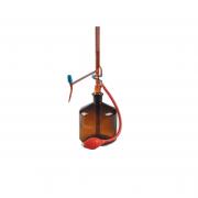 Buret tự động nâu + chai thủy tinh 2L + quả bóp Dinlab class AS 10 ml (0,02)